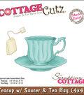CottageCutz Die-Teacup/Saucer 3.5\u0022X2.4\u0022 Tea Bag 1.3x1.9