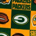 Green Bay Packers Fleece Fabric -Block