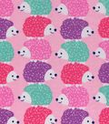 Snuggle Flannel Fabric 42\u0022-Colorful Hedgehogs