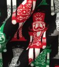 Doodles Christmas Interlock Cotton Fabric -Holiday Nutcrackers