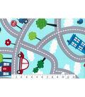 Novelty Cotton Fabric Panel 44\u0022-Transporation Roadway
