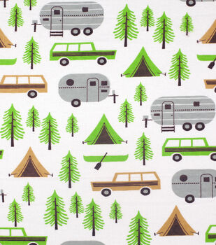 Super Snuggle Flannel Fabric-Camping Trip