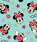 Disney Minnie Mouse Cotton Fabric 43\u0022-Glasses and Faces