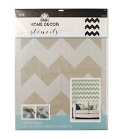 FolkArt Home Decor 21.68''x17.68'' Laser Cut Wall Stencil-Chevron, , hi-res