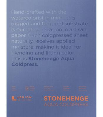 Stonehenge Aqua Coldpress 15-sheet 10''x14'' 140 lbs. Paper Pad-White