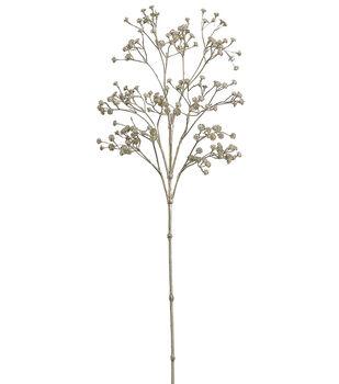 "Bloom Room 26"" Metallic Gypsophila Spray-Gold"