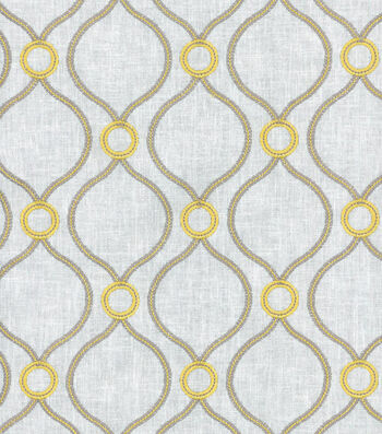 P/K Lifestyles Upholstery 8x8 Fabric Swatch-Curveball Emb/Sunshower