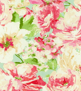 "Waverly Upholstery Fabric 54""-Garden Gallery Petal"