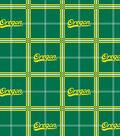 University of Oregon Ducks Flannel Fabric 42\u0022-Plaid