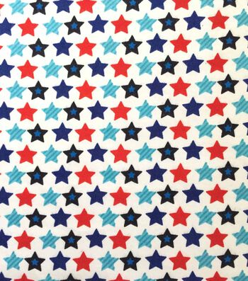 Doodles Interlock Knit Fabric 57''-Stripes of Stars