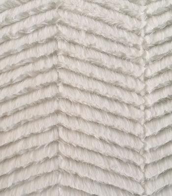 Luxury Faux Fur Fabric -Chevron