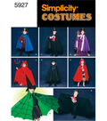 Simplicity Pattern 5927A Child\u0027s Cape Costume-Size S M L