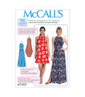 McCall\u0027s Pattern M7405 Misses\u0027 Dresses with Ties & Belt-Size 16-26