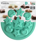Silicone Cookie Mold Pan-Stars & Hearts 9 Cavity