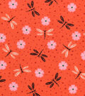 Snuggle Flannel Fabric -Ditsy Dragonflies