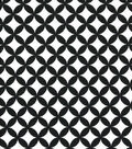 Quilter\u0027s Showcase Cotton Fabric-Quatrefoil Black/White