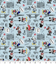 Disney Cotton Fabric-Mickey & Minnie Travel, , hi-res