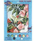 Dimensions Learn To Paint! Paint By Number Kit-Hummingbird & Fuchsias