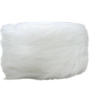 "Wrights Trims-2"" White Faux Fur"
