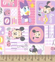 Disney Playtime Minnie Patch Print Fabric, , hi-res
