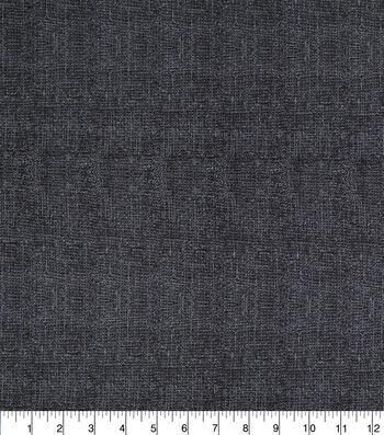 Keepsake Calico Burlap Texture Cotton Fabric 43''-Black