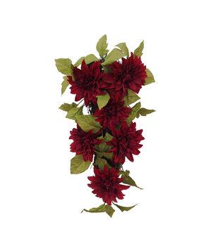 Blooming Autumn Water Resistant Dahlia Teardrop-Red