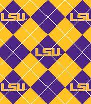 "Louisiana State University Tigers Fleece Fabric 58""-Argyle, , hi-res"