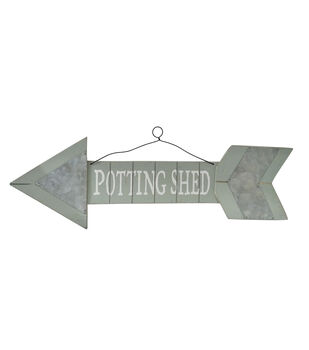 In the Garden Spring Arrow Wall Decor-Potting Shed
