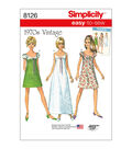 Simplicity Pattern 8126 Misses\u0027 Easy-to-Sew Vintage Dress-Size H5 (6-14)