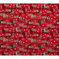 Super Snuggle Flannel Fabric-Christmas Moose in Sweaters