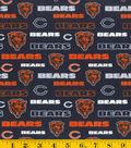 Chicago Bears Cotton Fabric -Glitter