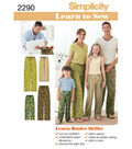 Simplicity Pattern 2290A Child & Adult Pants-Size XS-L/XS