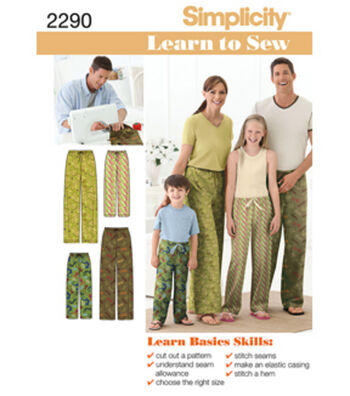 Simplicity Pattern 2290A Child & Adult Pants-Size XS-L/XS