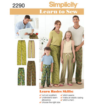 9a37605b162 Simplicity Pattern 2290A Child   Adult Pants-Size ...