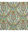 Home Decor 8\u0022x8\u0022 Fabric Swatch-Ombre Paisley / Poppy