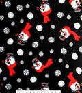 Frosty the Snowman Fleece Fabric 58\u0022-Selfie