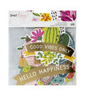 American Crafts Dear Lizzy New Day 40 pk Die-cut Shapes