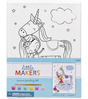 Little Makers 6X8 Canvas Kit-Unicorn Hug