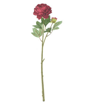 Bloom Room 27'' Peony Stem-Burgundy