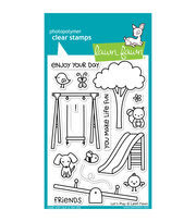 "Lawn Fawn Clear Stamps 4""X6""-Lets Play, , hi-res"