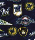 Milwaukee Brewers Fleece Fabric -Vintage