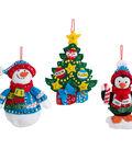Trimming The Tree Ornaments Felt Applique Kit 4\u0022X6\u0022 Set Of 6