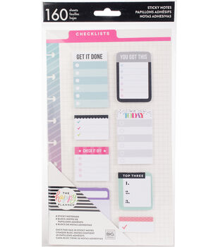 The Happy Planner 160-sheets Classic Sticky Notes-Checklists