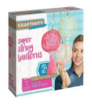 Creativity for Kids CRAFTIVITY Super String Lanterns Kit, , hi-res