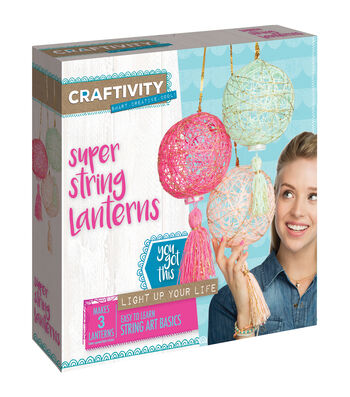 Creativity for Kids CRAFTIVITY Super String Lanterns Kit