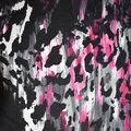 Fast Fashion Knit Fabric-Black & Fuchsia Abstract Animal