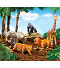 Jumbo Jungle Animals, 5/pkg