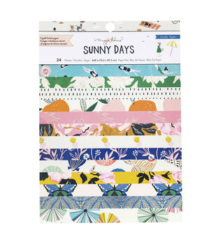 Maggie Holmes Crate Paper Single-Sided Card Making Pad 24pk-Sunny Days