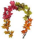 Blooming Autumn 66\u0027\u0027 Maple Leaves Garland-Color Blocked