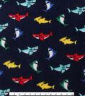 Anti-Pill Fleece Fabric 59\u0022-Multi Color Sharks